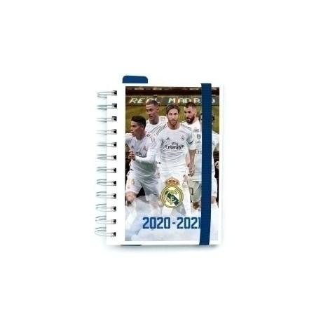 Agenda Escolar (2020) Erik Wire-O Tapa Extradura Con Goma S 11,4x16 D/P Real Madrid