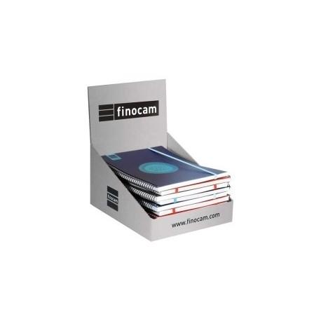 Agenda Escolar (2020) Finocam Label Espiral Tapa Pp D/P E10 155x212 Con Goma Surtido Expositor De 6