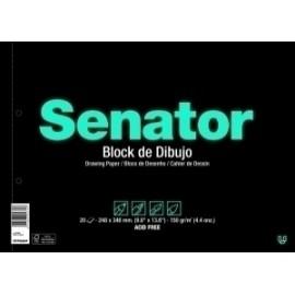 Bloc De Dibujo Senator Fº Prol. 20h 2 Taladros