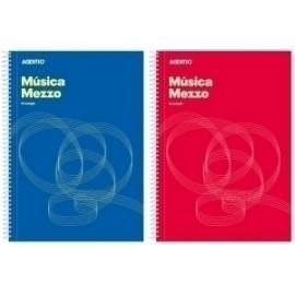 Bloc De Musica Additio Mezzo 12 Pentagramas A4 Espiral Microperforado Separador Portapartituras Paginas Finales Para Anotaciones