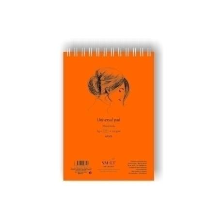 Bloc Dibujo Smiltainis Con Espiral Din A4 Tec. Mixtas (Secas Y Húmedas) 40 Hojas 200 Gr.
