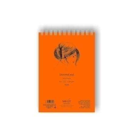 Bloc Dibujo Smiltainis Con Espiral Din A5 Tec. Mixtas (Secas Y Húmedas) 40 Hojas 200 Gr.
