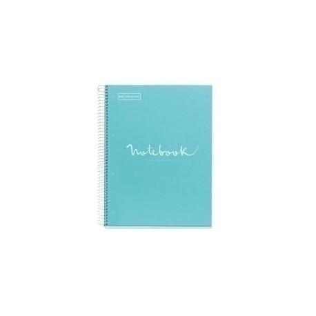 Bloc Miquelrius Emotions Notebook 1 Micro.Tapa Dura A4 80h 90g Cuadric.5x5 Azul Cielo