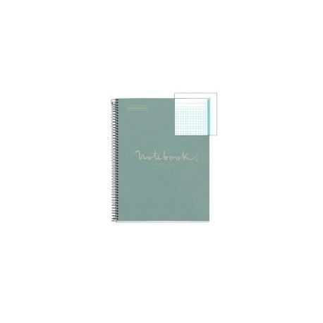 Bloc Miquelrius Emotions Notebook 1 Micro.Tapa Dura A4 80h 90g Cuadric.5x5 Ecoazul