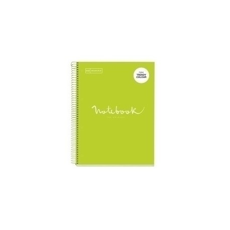 Bloc Miquelrius Emotions Notebook 1 Micro.Tapa Dura A4 80h 90g Cuadric.5x5 Lima