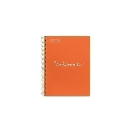 Bloc Miquelrius Emotions Notebook 1 Micro.Tapa Dura A4 80h 90g Cuadric.5x5 Naranja