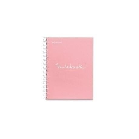 Bloc Miquelrius Emotions Notebook 1 Micro.Tapa Dura A4 80h 90g Cuadric.5x5 Rosa