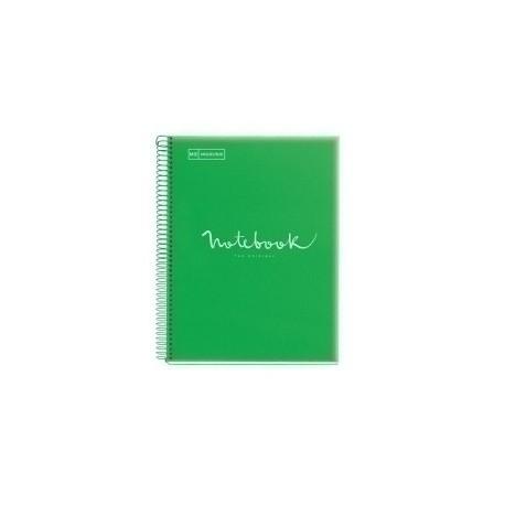 Bloc Miquelrius Emotions Notebook 1 Micro.Tapa Pp A4 80h 90g Cuadric.5x5 Verde