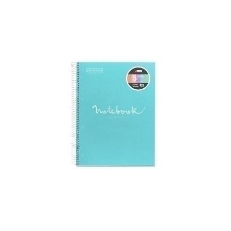 Bloc Miquelrius Emotions Notebook 5 Micro.Tapa Dura A4 120h 90g Cuadric.5x5 Azul Cielo