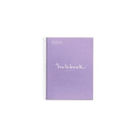 Bloc Miquelrius Emotions Notebook 5 Micro.Tapa Dura A4 120h 90g Cuadric.5x5 Lavanda