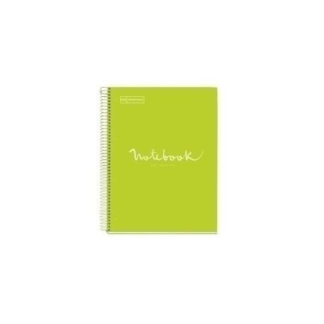 Bloc Miquelrius Emotions Notebook 5 Micro.Tapa Dura A4 120h 90g Cuadric.5x5 Lima