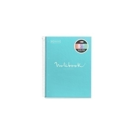 Bloc Miquelrius Emotions Notebook 5 Micro.Tapa Dura A4 120h 90g Horizontal 7mm Azul Cielo