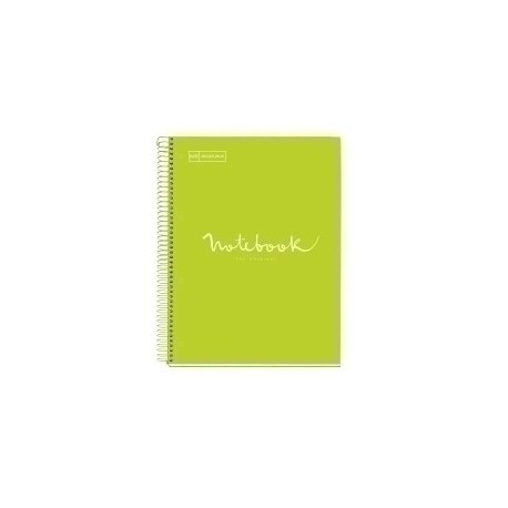 Bloc Miquelrius Emotions Notebook 5 Micro.Tapa Dura A4 120h 90g Horiz.7mm Lima