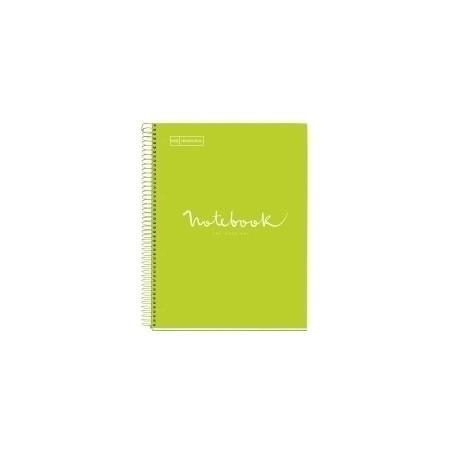 Bloc Miquelrius Emotions Notebook 5 Micro.Tapa Dura A5 120h 90g Cuadric.5x5 Lima
