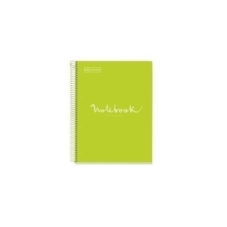 Bloc Miquelrius Emotions Notebook 5 Micro.Tapa Dura A5 120h 90g Horiz.7mm Lima