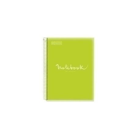 Bloc Miquelrius Emotions Notebook 5 Micro.Tapa Pp A4 120h 90g Cuadric.5x5 Lima