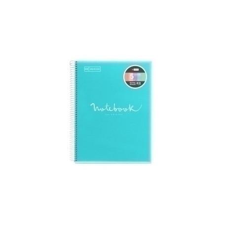 Bloc Miquelrius Emotions Notebook 5 Micro.Tapa Pp A4 120h 90g Horizontal Azul Cielo