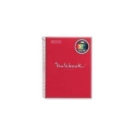 Bloc Miquelrius Emotions Notebook 5 Micro.Tapa Pp A4 120h 90g Horizontal Rojo