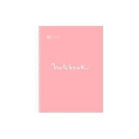 Bloc Miquelrius Emotions Notebook 5 Micro.Tapa Pp A5 120h 90g Cuadric.5x5 Rosa