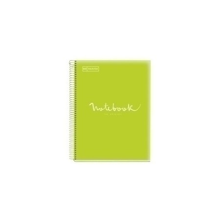 Bloc Miquelrius Emotions Notebook 8 Micro.Tapa Pp A4 160h 90g Cuadric.5x5 Lima