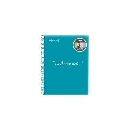 Bloc Miquelrius Emotions Notebook 8 Micro.Tapa Pp A5 160h 90g Cuadric.5x5 Formentera