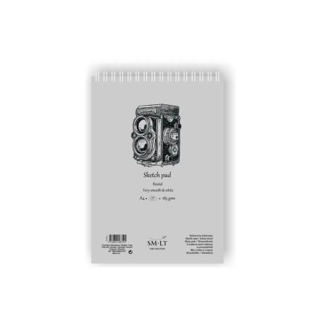 Bloc Para Bocetos Smiltainis Con Espiral Din A4 100 Hojas Bristol 100 Gr.
