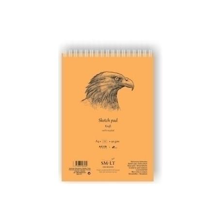 Bloc Para Bocetos Smiltainis Con Espiral Din A4 100 Hojas Color Crema 80 Gr.