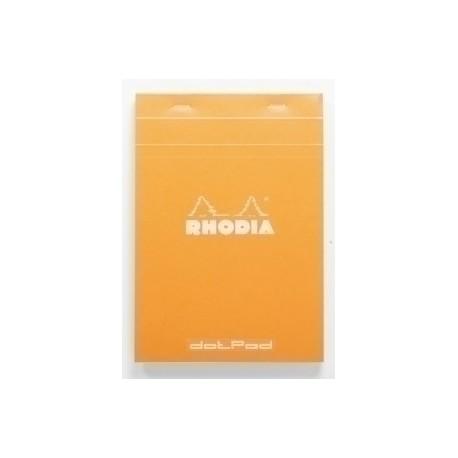 Block De Notas Clairefontaine Rhodia Con Tapa A5 80h Cuadric. 5x5 Naranja