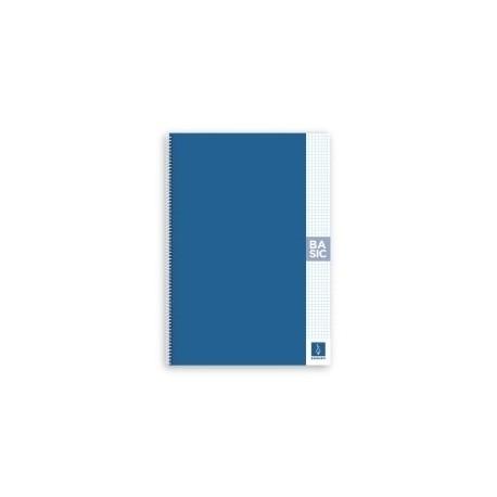 Block Escolofi Basic Tapa Dura A4 80h Cuadric.4x4 80g Con Margen Azul