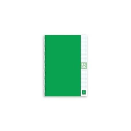 Block Escolofi Basic Tapa Dura A4 80h Cuadric.4x4 80g Con Margen Verde