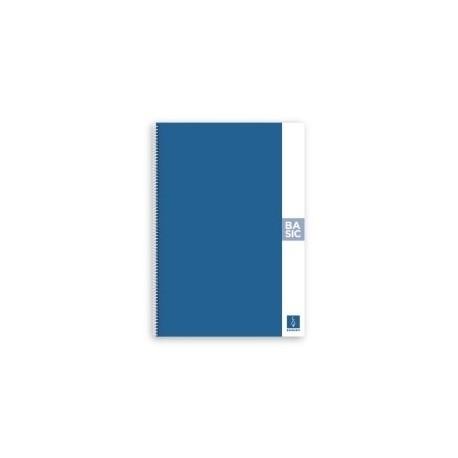 Block Escolofi Basic Tapa Dura A4 80h Liso 80g Azul