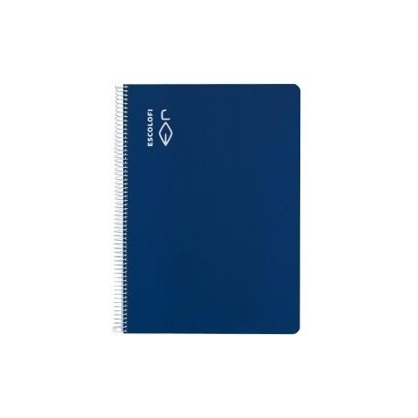 Block Escolofi Tapa Dura A4 80h Cuadric.4x4 70g Pauta C/Margen Azul