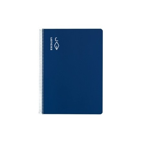 Block Escolofi Tapa Dura A4 80h Cuadric.5x5 70g C/Margen Azul
