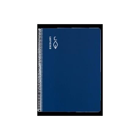 Block Escolofi Tapa Dura A4 80h Milimetrado 4x4x16 70g Azul