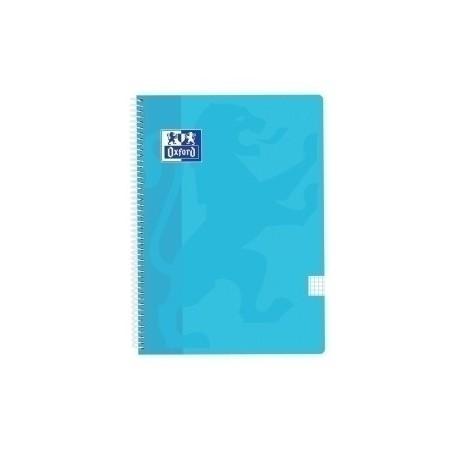 Block Oxford School Classic Tapa Pp Fº 80h Cuadric.4x4 90g Azul Pastel
