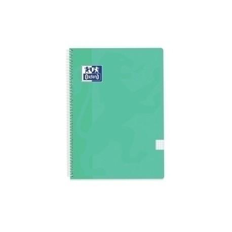 Block Oxford School Classic Tapa Pp Fº 80h Cuadric.4x4 90g Ice Mint Pastel