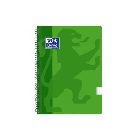 Block Oxford School Classic Tapa Pp Fº 80h Cuadric.5x5 90g Verde