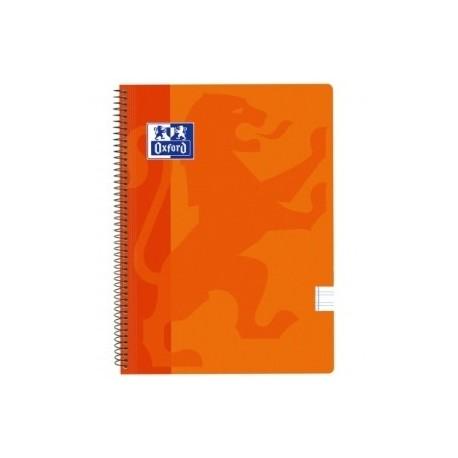 Block Oxford School Classic Tapa Pp Fº 80h Pauta 3,5 90g Naranja