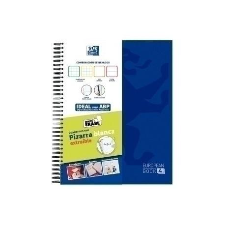 Block Oxford School Eu.Book 4 Separadores Micro.Tapa Extra A4+ 120h Multirayado 90g Azul Marino