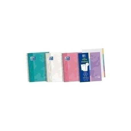 Block Oxford School Eu.Book 5 Separadores Micro.Tapa Extra A5+ 100h Cuadric.5x5 90g Surtido