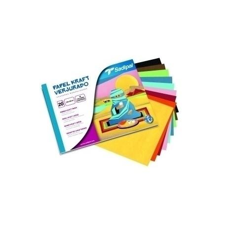 Block Sadipal Manualidades 20 Hojas Papel Kraft