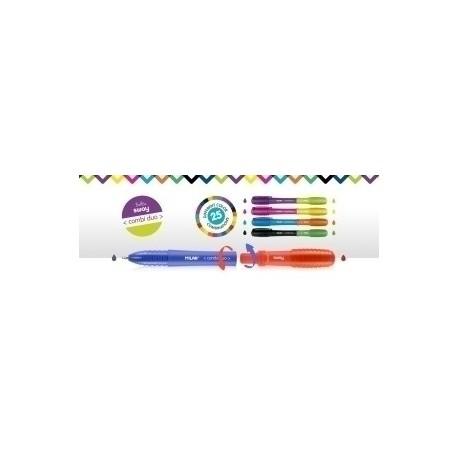 Boligrafo Milan Sway Combi Duo Surtido Expositor De 50 Puntas Intercambiables (5 Boligrafos X 10 Colores)