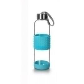 Botella Vidrio Ibili Sky 500ml Borosilicato Azul