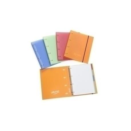 Carpebloc Pardo Studio Style A4 4 An.20mm Con Rec.100 Hj. 90 Gr. Y Separadores Naranja