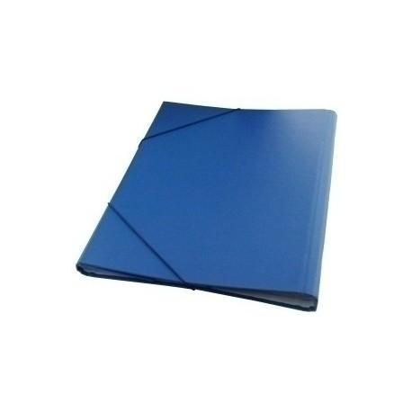 Carpeta Clasificadora Dohe Carton Plastif. Fº 12 Dptos.Gomas Y Solapa Azul