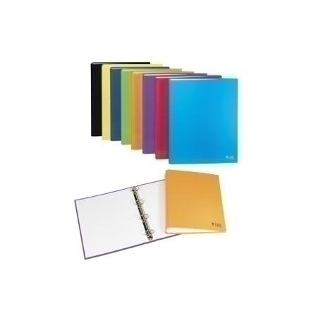 Carpeta De Anillas Carchivo Luz Carton Plastificado Brillo Fº-Xl 4 An.Redonda 40mm Surtido De 8
