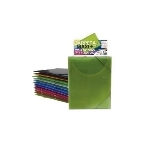 Carpeta De Gomas Y Solapas Office Box Pp Trans.Maxi +Colorline