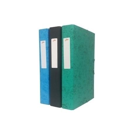 Carpeta De Proyectos Olef Carton Forrado Fº Gomas 90 Mm Azul