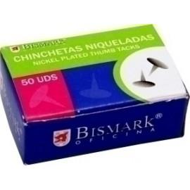 Chincheta Bismark Niquelada Caja De 50