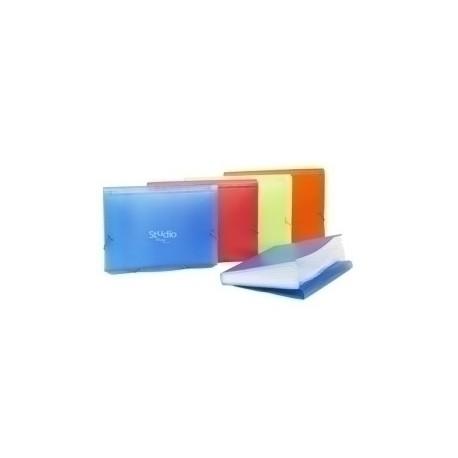Clasificador Lomo Fuelle Pardo Studio Style Pp Fº 12 Separad. Gomas Azul